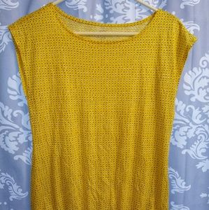 Ann Taylor LOFT XS Yellow Dot Sleeveless Top NWOT